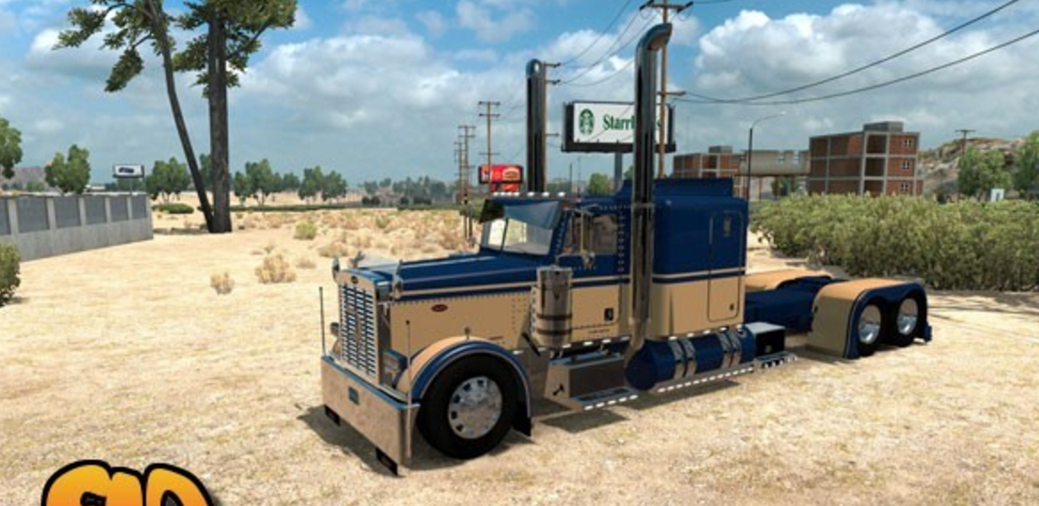 Peterbilt 389 Flat Top Sleeper 63 skin for Modified