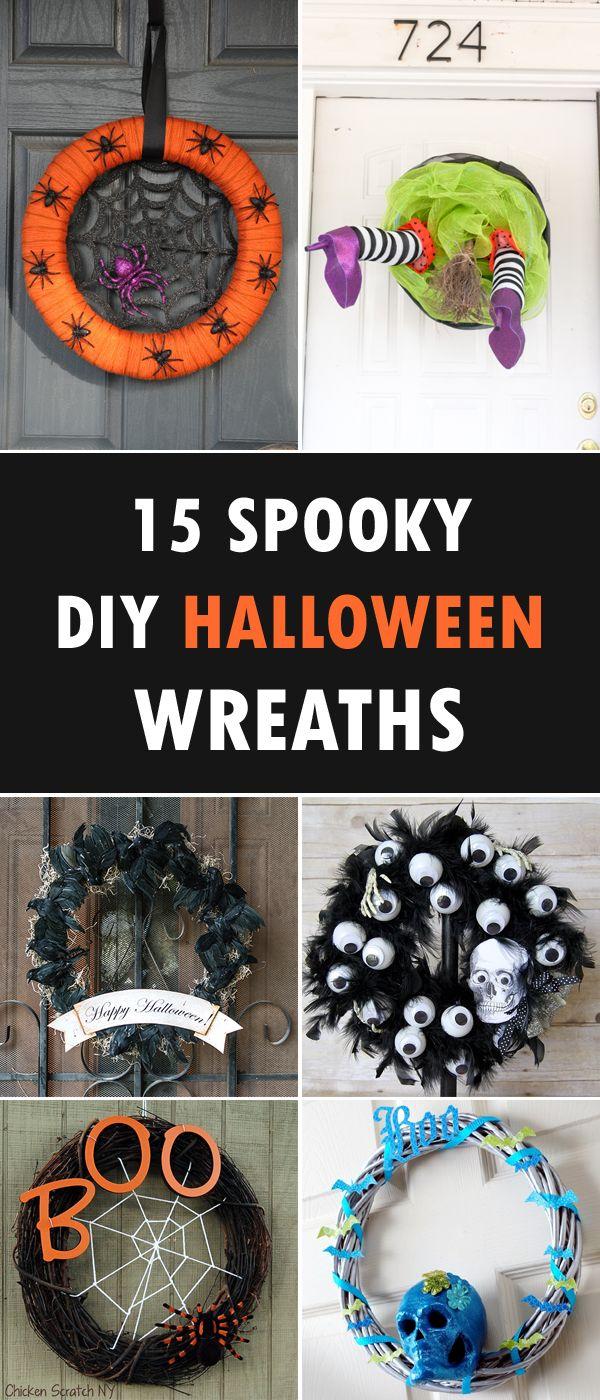 15 Spooky Diy Halloween Wreaths For Your Front Door Diy