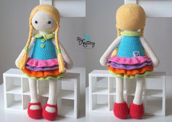 vestido-muñeca-amigurumi | Crochet y Amigurumis | 403x570