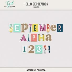 Hello September | Alpha #helloseptember The Hello September Alpha are perfect for memory keeping and documenting the end of summer/start of autumn and getting back to normal routine.  This new release is on sale at 30% off at The Digital Press. #helloseptember