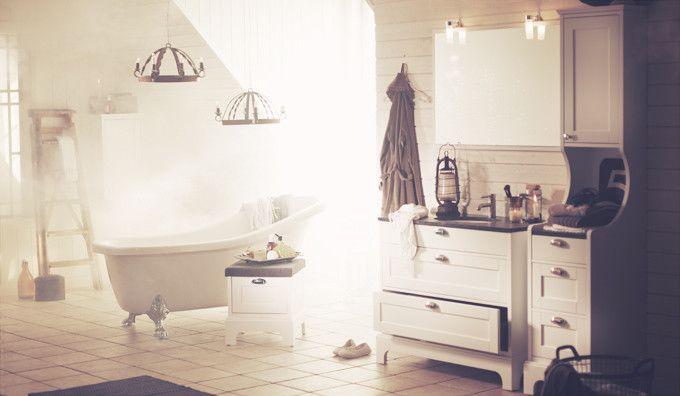 Badrumsm bler f r gammaldags badrum solvik aspen badrum for New england style bathroom ideas
