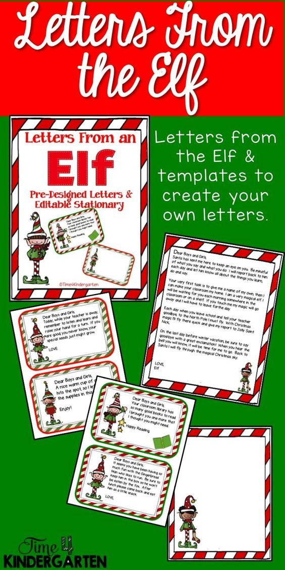 Elf On The Shelf Letters For The Classroom Leave Letters From The