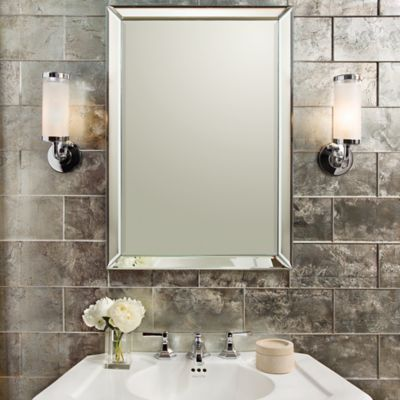 Lucian Metallics x glass field in pewter with KALLISTA For Town by Michael S Smith mirror pedestal sconce basin set with lever handles and For Loft by Top Design - Fresh Pedestal Mirror Fresh