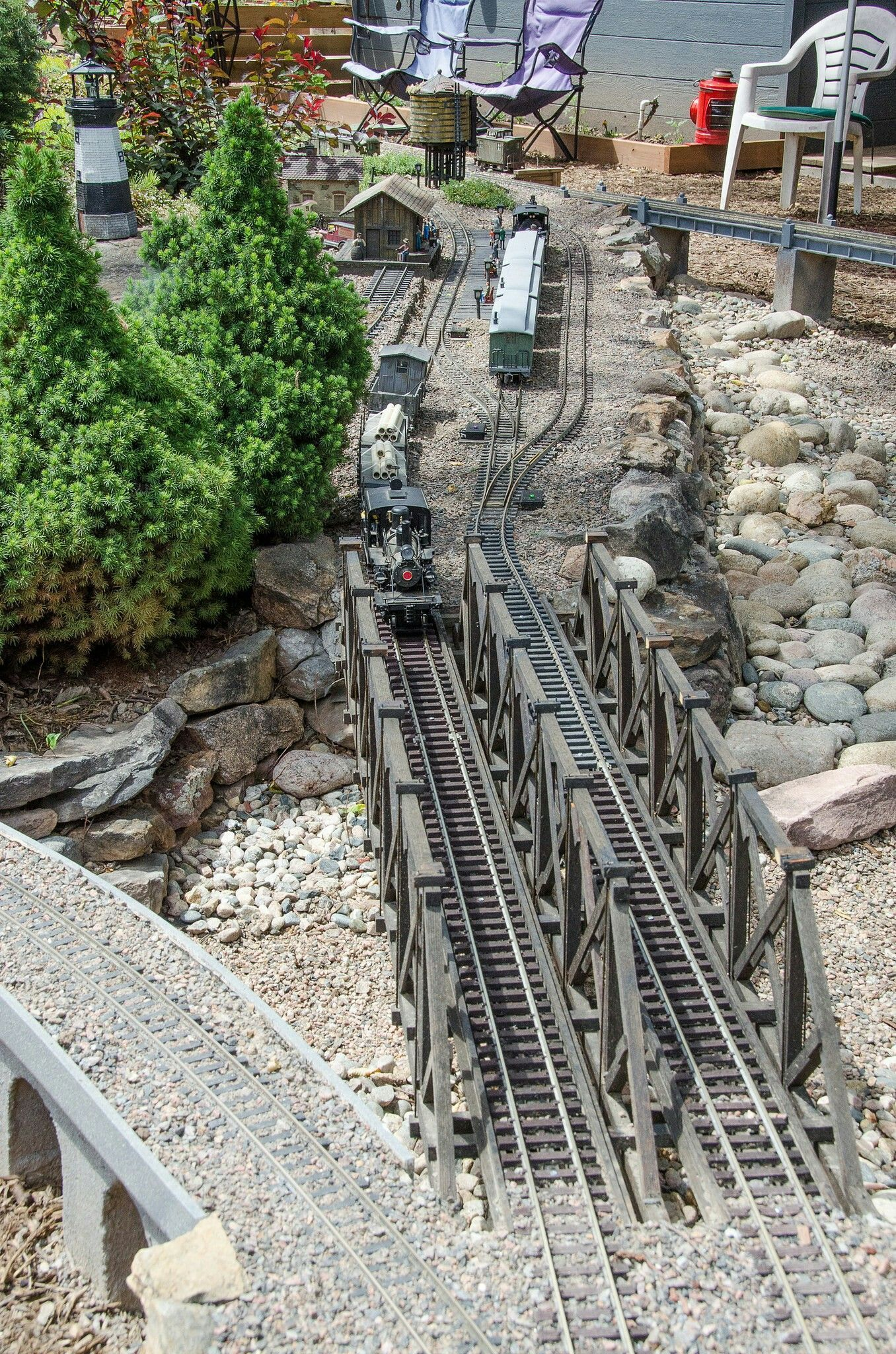 G Scale - Garden Railroad #modeltrainlayoutsideas   Garden ...