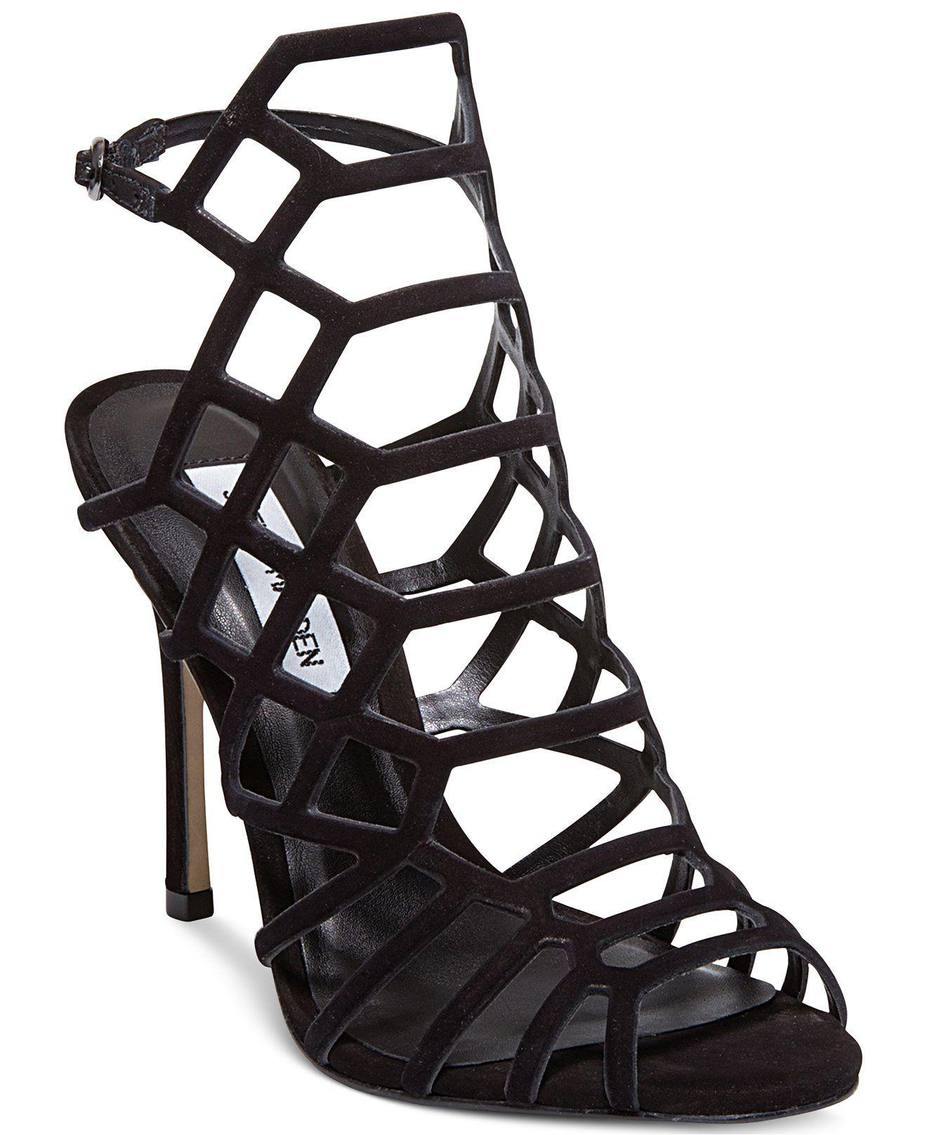 8688b14b95e Steve Madden Women s Slithur Caged Sandals - Steve Madden - Shoes - Macy s