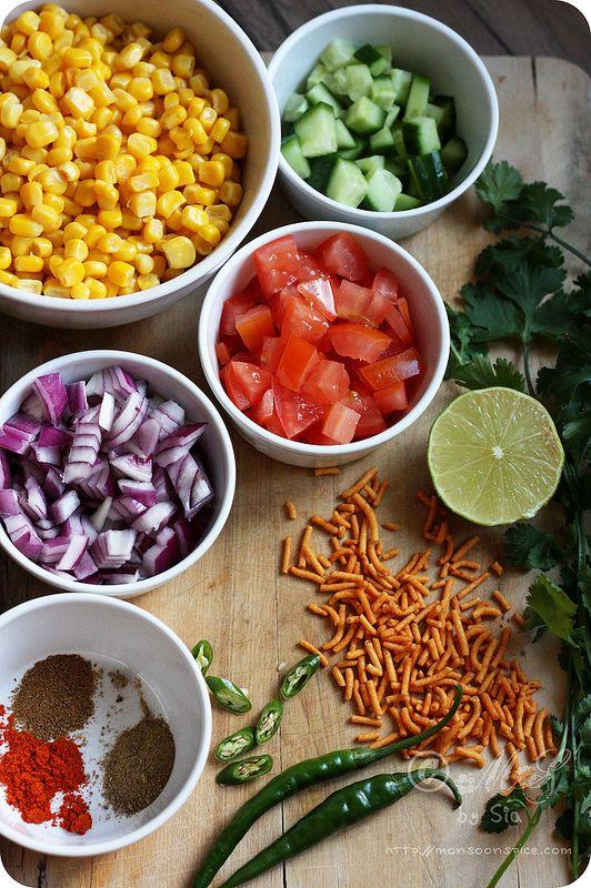 Spicy corn chaatsalad recipe healthy sweets sweet corn and salad food forumfinder Choice Image