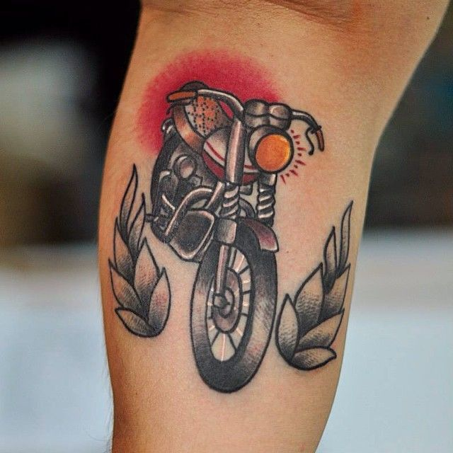 Biker tattoos 17 old school biker tattoo anderey nowak for Traditional motorcycle tattoo