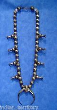 """Navajo Indian Old Pawn Sterling Silver Squash Blossom Necklace c.1930,  27"""""""