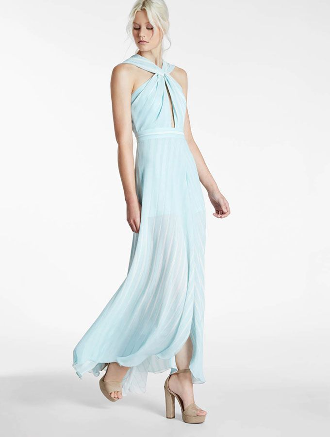 Halston - Flowy Printed Georgette Gown | Fashion // Style // Beauty ...