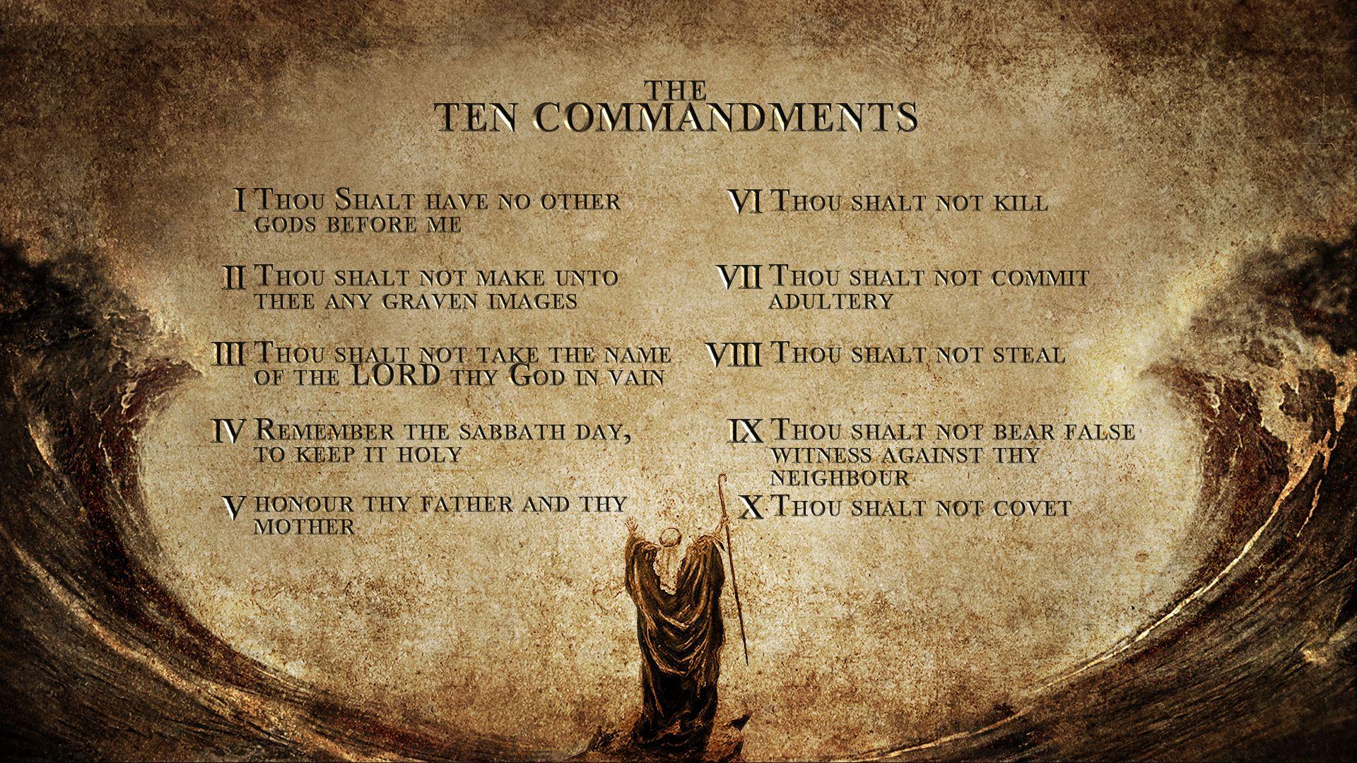 Motorola Droid 10 Commandments Wallpaper I want to keep reminding ...