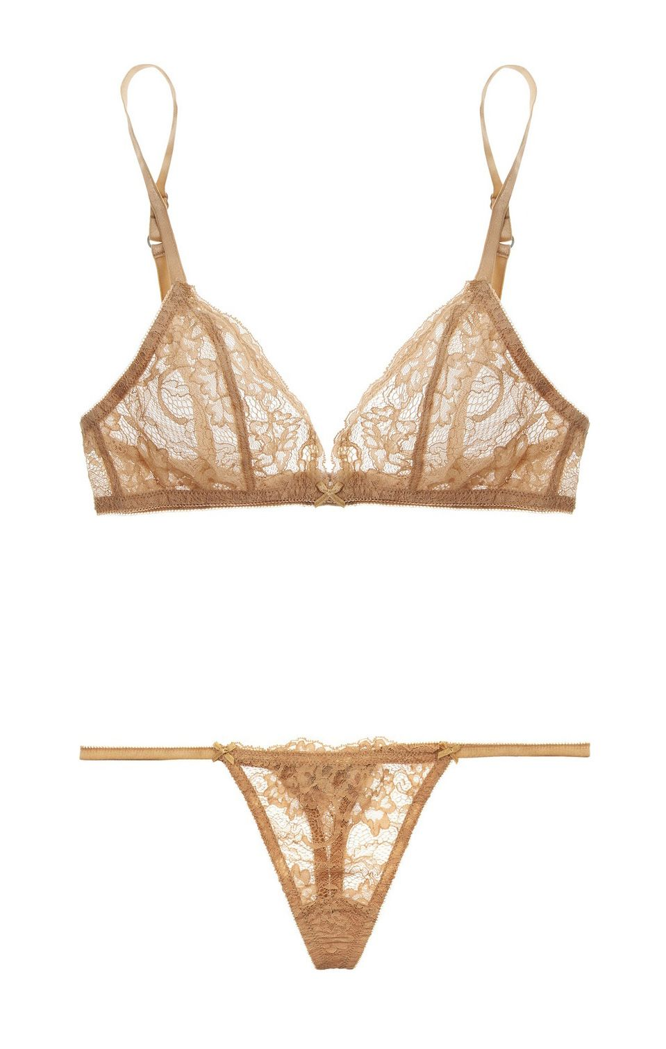 84a535ad5d Deborah Marquit - Giardino di Fiori Italian lace soft-cup bra and lace  thong in antique-beige