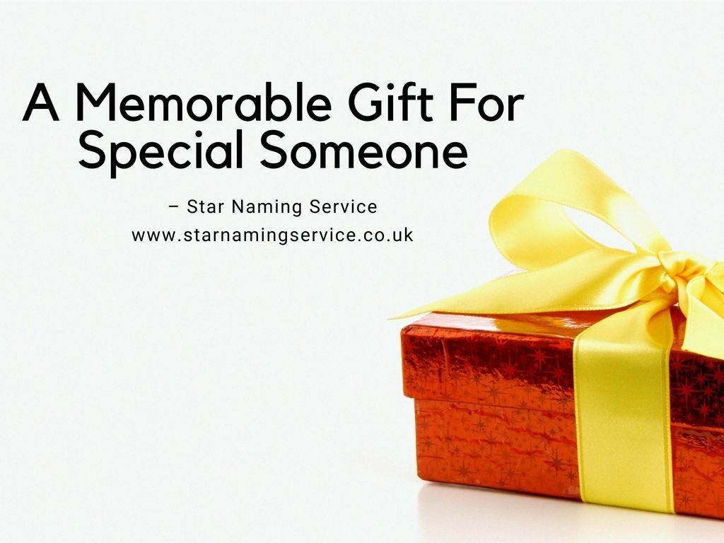 A Memorable Gift For Special Someone – Star Naming Service!!!! You can