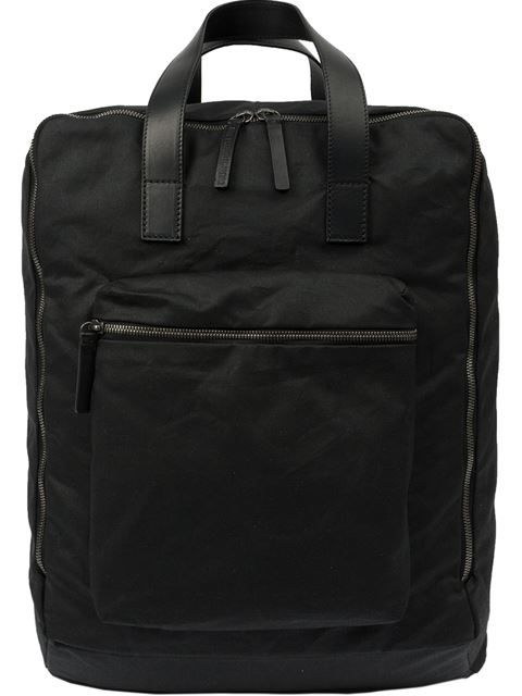 ANN DEMEULEMEESTER Square Backpack. #anndemeulemeester #bags #leather #backpacks #cotton