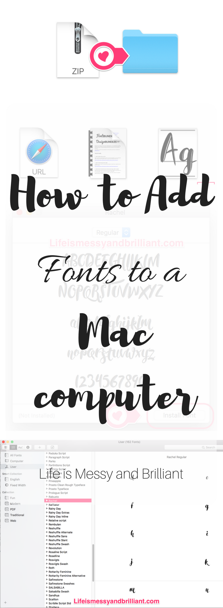 How to Install Fonts on a Mac Computer Lettering, Fonts