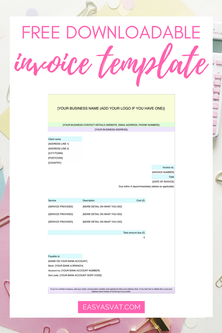 Invoice Template For Services Provided What To Do When A Client Hasn't Paid You  Business Easy And Blogging