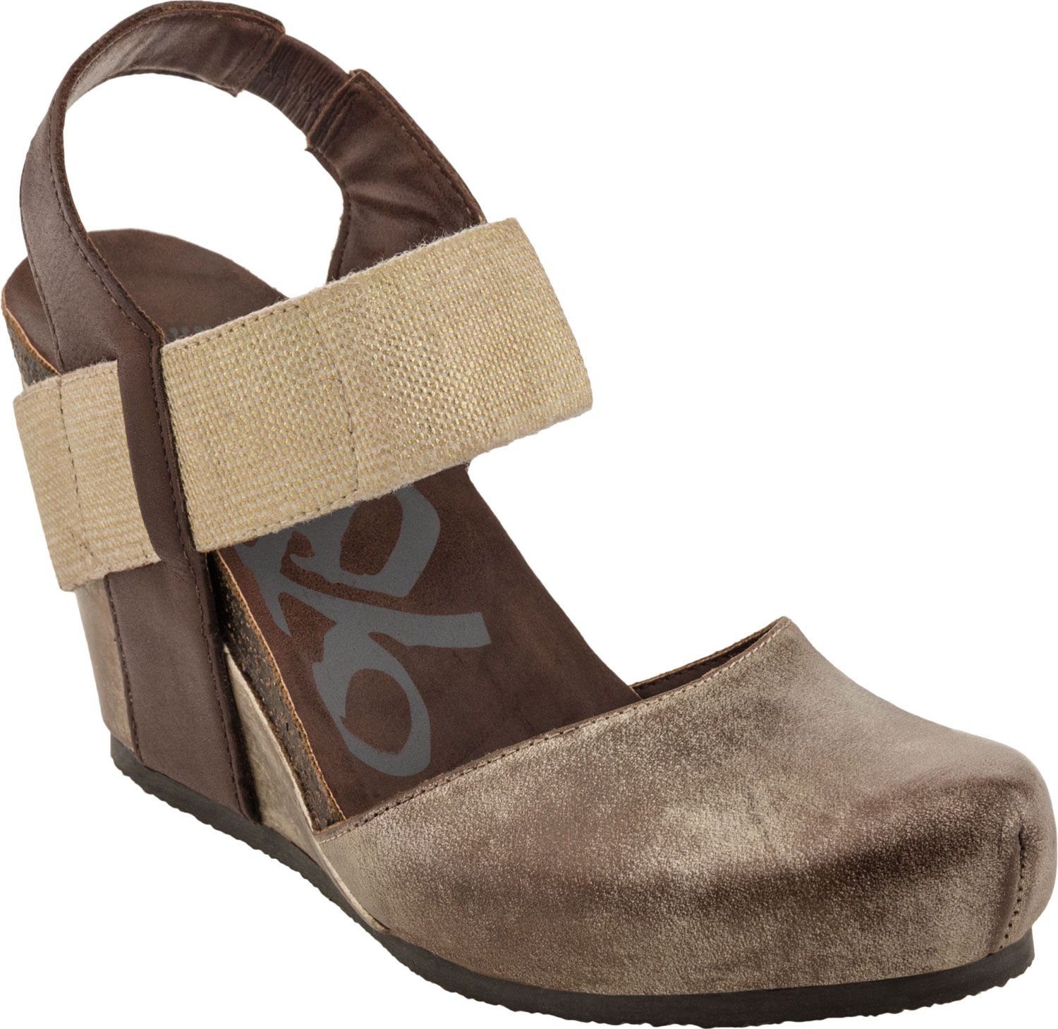 Otbt Rexburg Closed Toe Wedge Gold Haute. Shoes