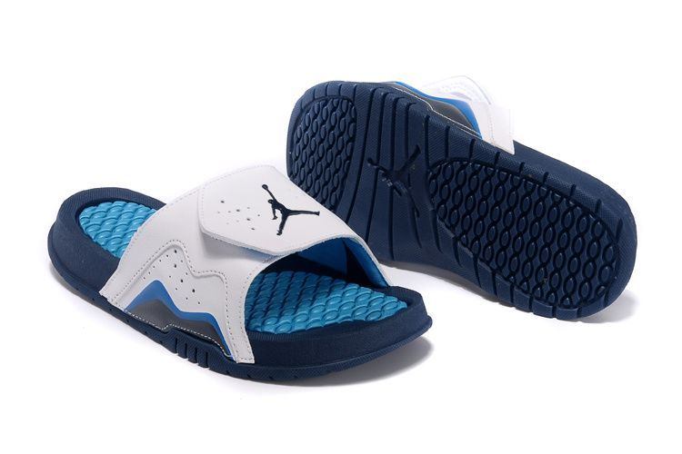 1028fd65e7d48d Nike Air Jordan Hydro VII 7 Retro Slides French Blue White SANDAL - Cheap  Jordan Shoes