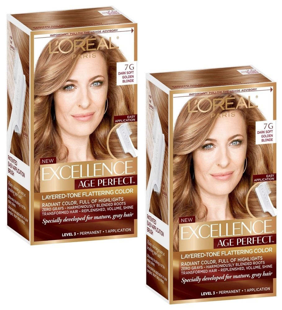 L Oreal Paris Excellence Age Perfect Hair Color Dark Soft Golden