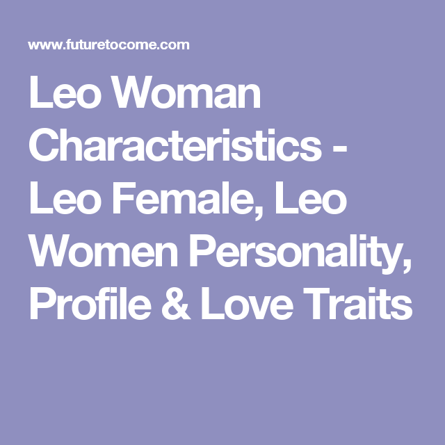 Leo personality profile female