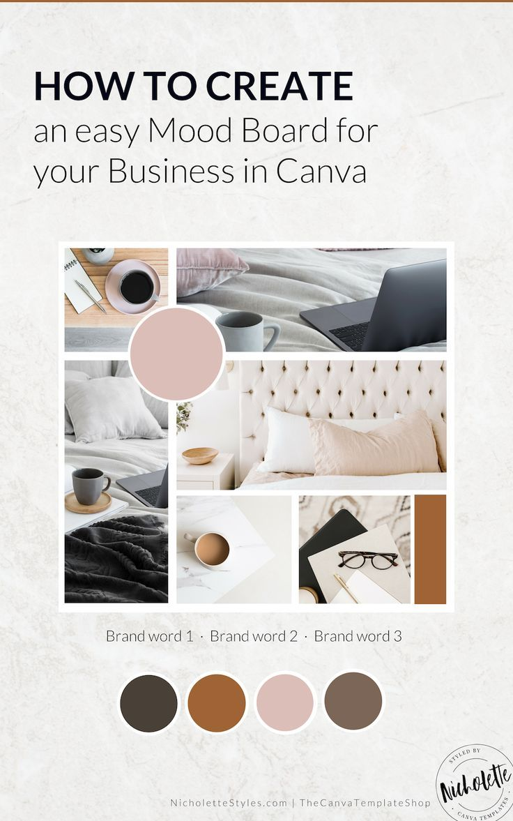 HOW TO CREATE YOUR MOOD BOARD IN CANVA in 2020 | Mood ...