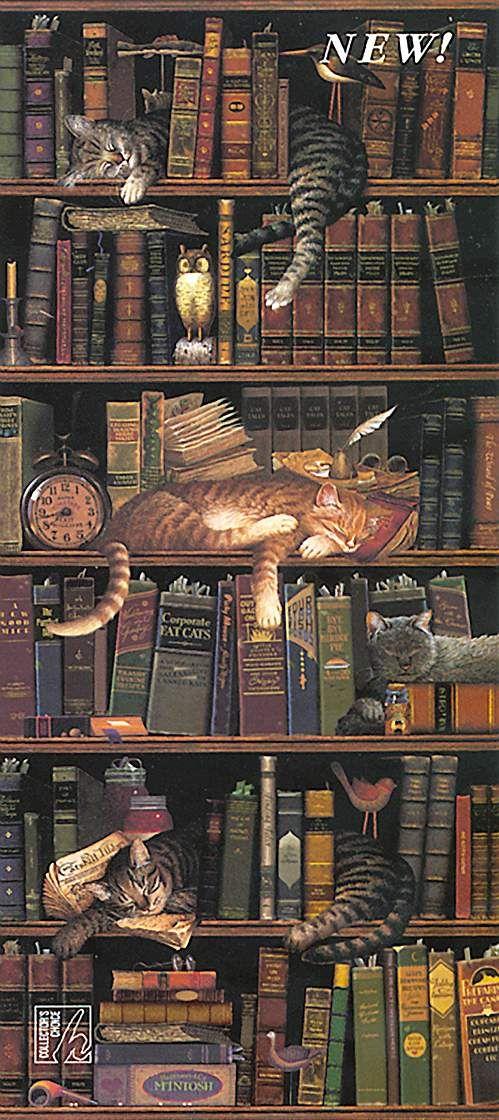 Whimsical Art For The Office Cat Books Cat Art Cats
