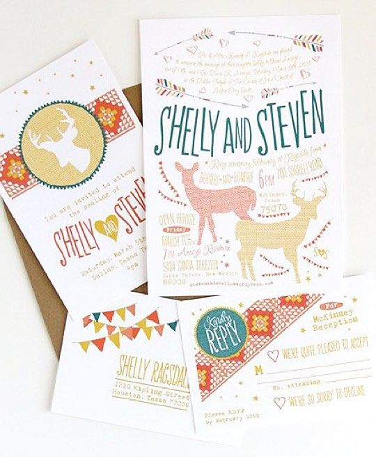 This wedding invitation was inspired from holiday season. The color was fun and the design is just like we are getting married on December. by weddingcard