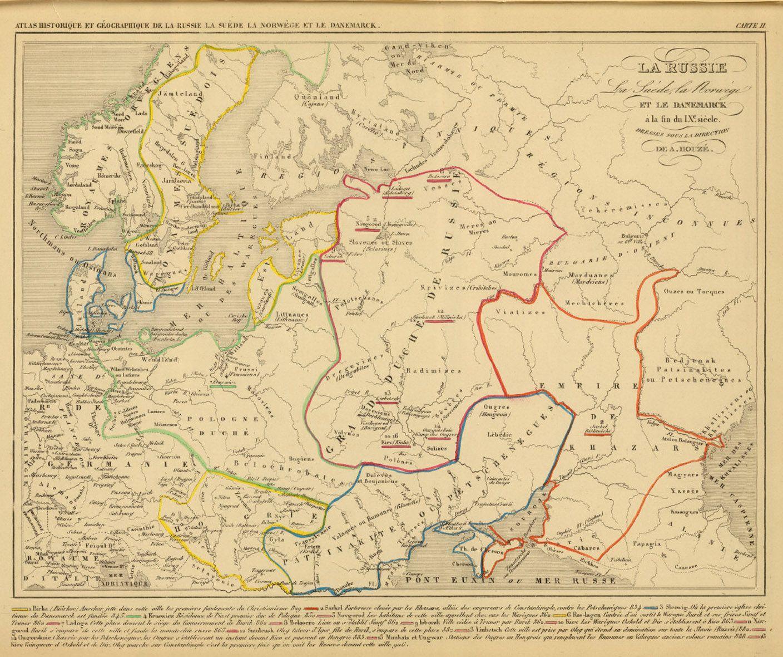 Polska Rosja Skandynawia Ix Wiek Mapa Francuska Kruszwica