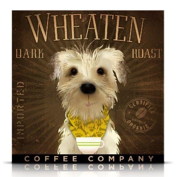 wheaten terrier print #etsygeministudio