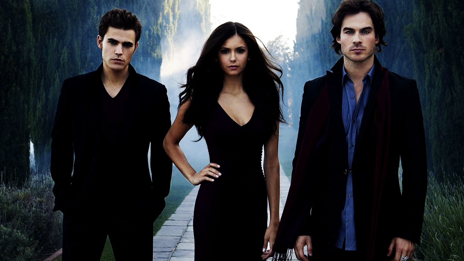 Vampire Diaries Wallpaper Stefan Elena And Damon Vampire