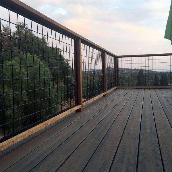 Top 50 Best Metal Deck Railing Ideas - Backyard Designs in ...