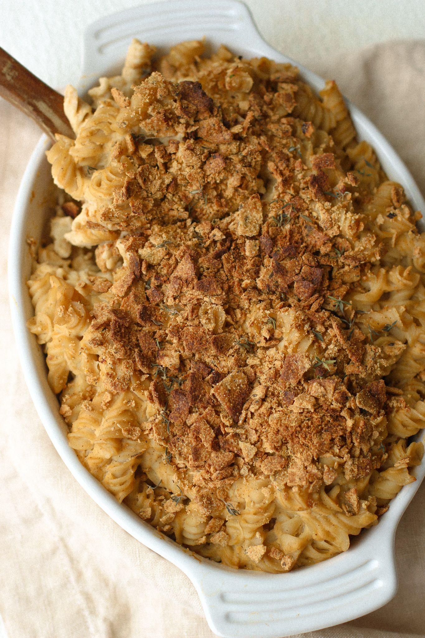 Healthy Baked Cauliflower Mac And Cheese Vegan Gluten Free Recipe In 2020 Cauliflower Mac And Cheese Baked Cauliflower Healthy Baking