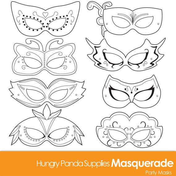 Masquerade Masks masquerade mask printable by HungryPandaSupplies - paper face mask template