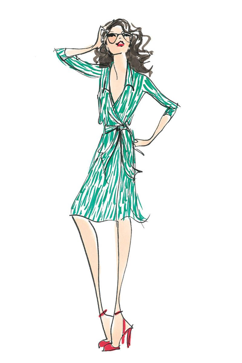 The Hundred Dresses | Fashion sketches, Iconic dresses, Fashion ...