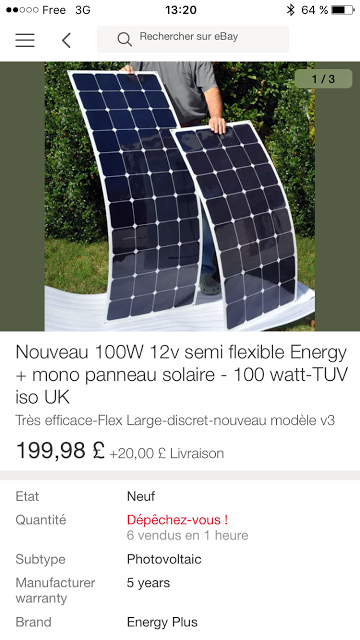 Finally Got 2 100w Flexible Sunpower Solar Panels After 2 5 Years Of Wait Solar Solar Panels Flexible Solar Panels