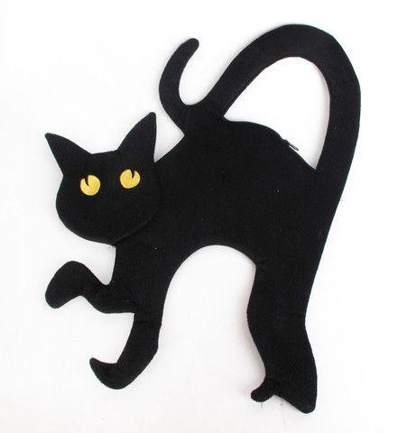 Scary Black Cat Handbag
