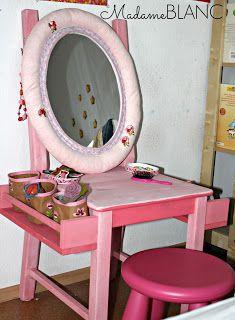 Kinder Frisiertisch Diy Frisiertisch Aufbewahrung Wohnzimmer