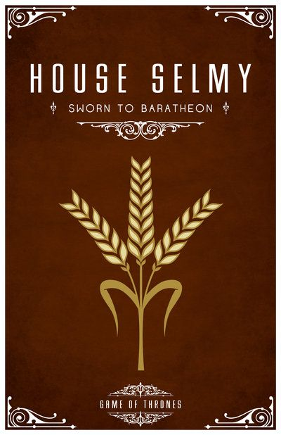 House Selmy. Game of Thrones house sigils by Tom Gateley. http://www.flickr.com/photos/liquidsouldesign/sets/72157627410677518/