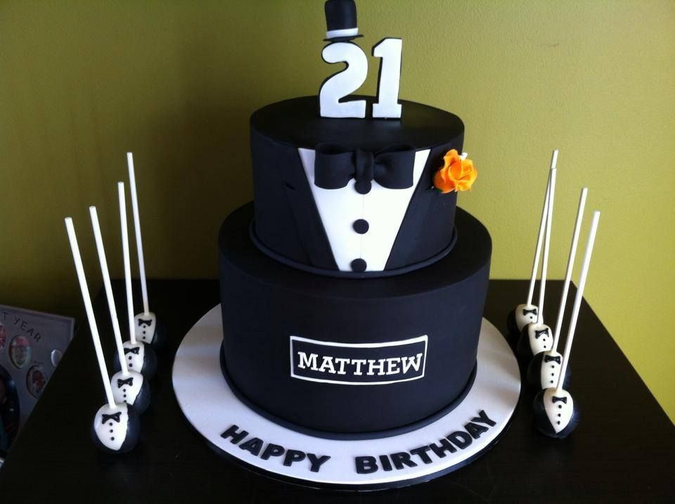 21st birthday cake ideas boy