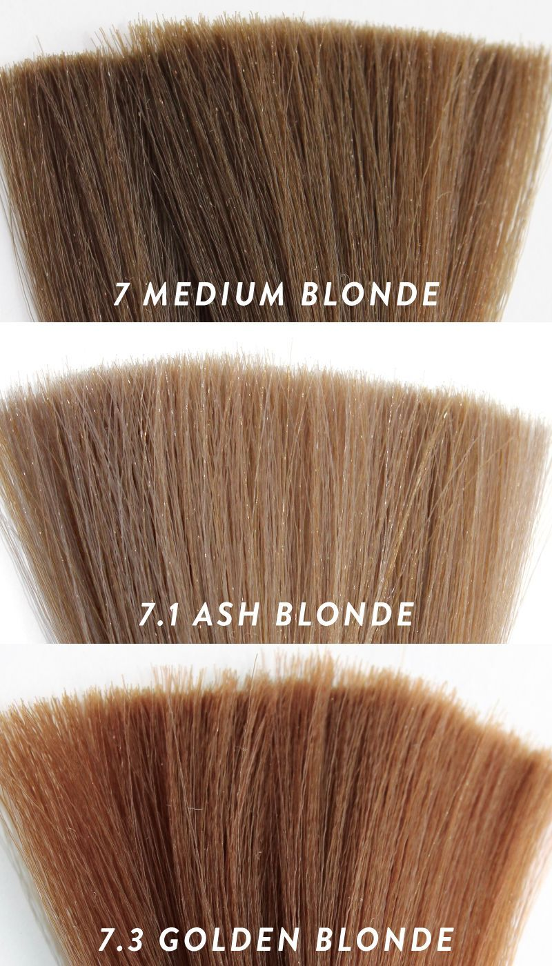 7 Medium Blonde 7 1 Ash Blonde 7 3 Golden Blonde Hair Colours By