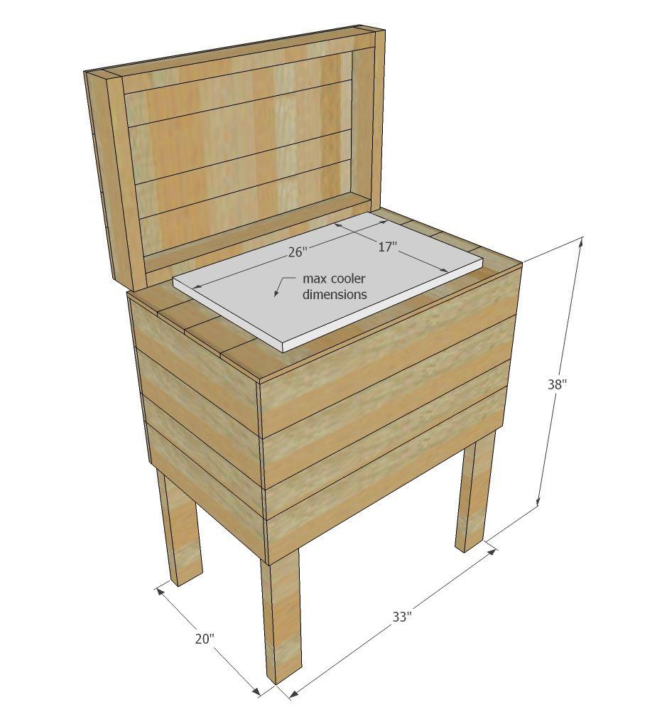 Pallet Cooler Stand Pallet Cooler Wood Pallet Projects Pallet Furniture Plans