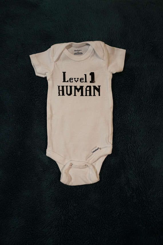 deebcc84d Level 1 human infant bodysuit by Fledgling Mommy on Etsy Dungeons and  Dragons nerdy onesie