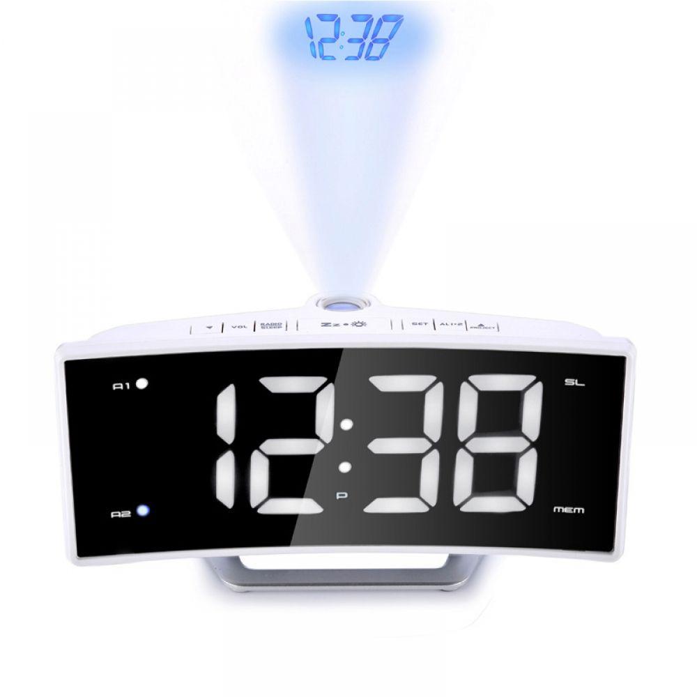 Projector Radio Alarm Clock Digital