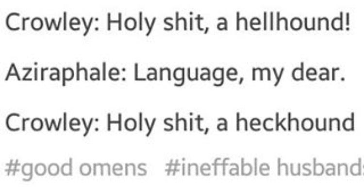 Good Omens Crowley and Aziraphale Tumblr post| They would | Goōd