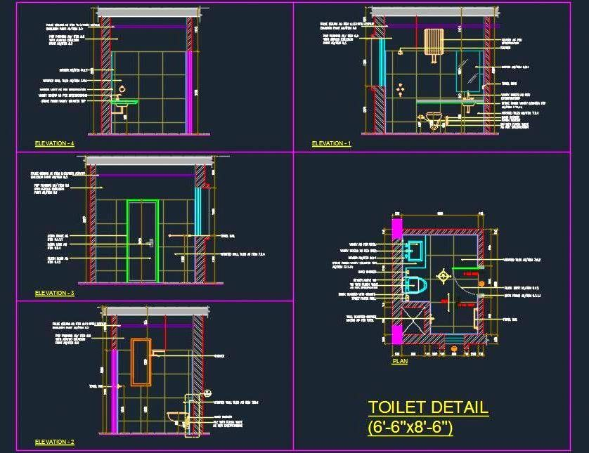 Toilet Design Detail 6 6x8 6 Toilet Design Design Details