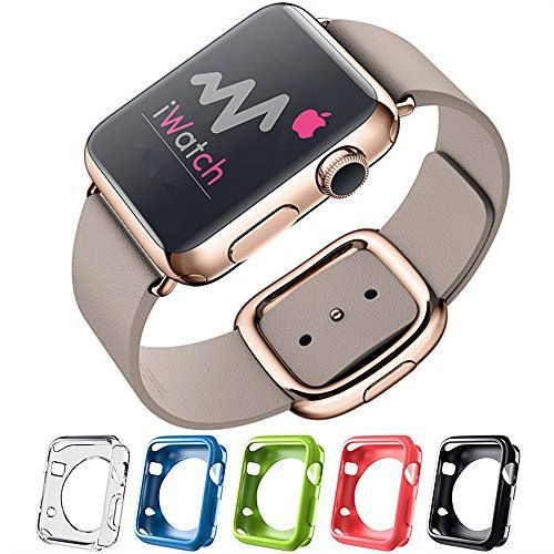 Apple Watch Cases,Walkas® Colorful iWatch Covers Soft TPU Shell for Apple Watch (38mm) Walkas http://www.amazon.com/dp/B0147XTN26/ref=cm_sw_r_pi_dp_cwt8vb0Z66GGN