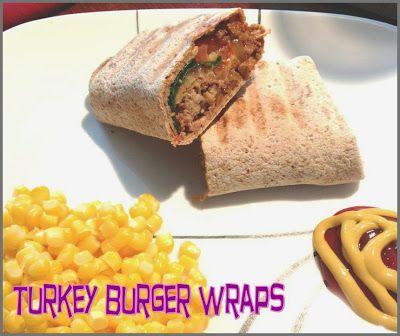 Random Bits: Turkey Burger Wraps- sounds delicious!