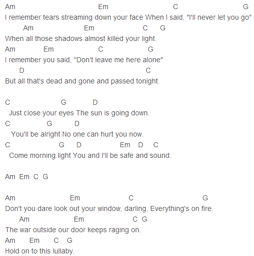 Taylor Swift - Safe and Sound Chords | Guitar | Pinterest | Taylor ...