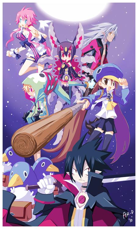 Disgaea 4 Crew Sardinnnes Disgaea Anime Game Art