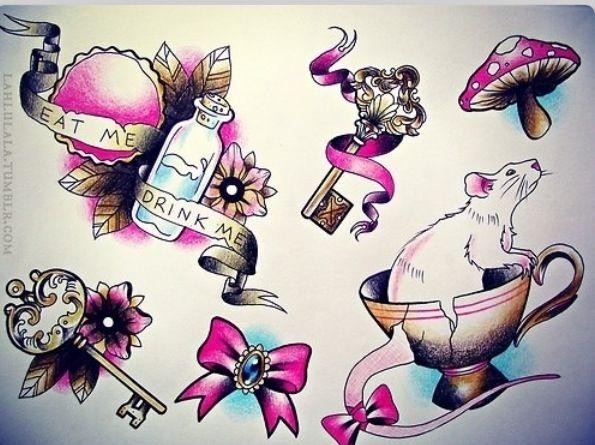 Alice In Wonderland Tea Party Tattoo Ideas Wonderland Tattoo