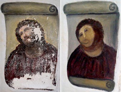 Woman Protests Historic Exclusion Of Women Artists From Church Painting Jesus Painting Spanish Art Paintings Of Christ